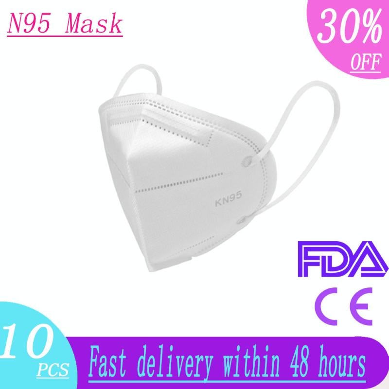 N95 Mask 6 Layers Filter Protection Face Mask PM2.5 Safety Dust Proof Anti Infection KN95 Mouth Masks Better Than FFP2 KF94