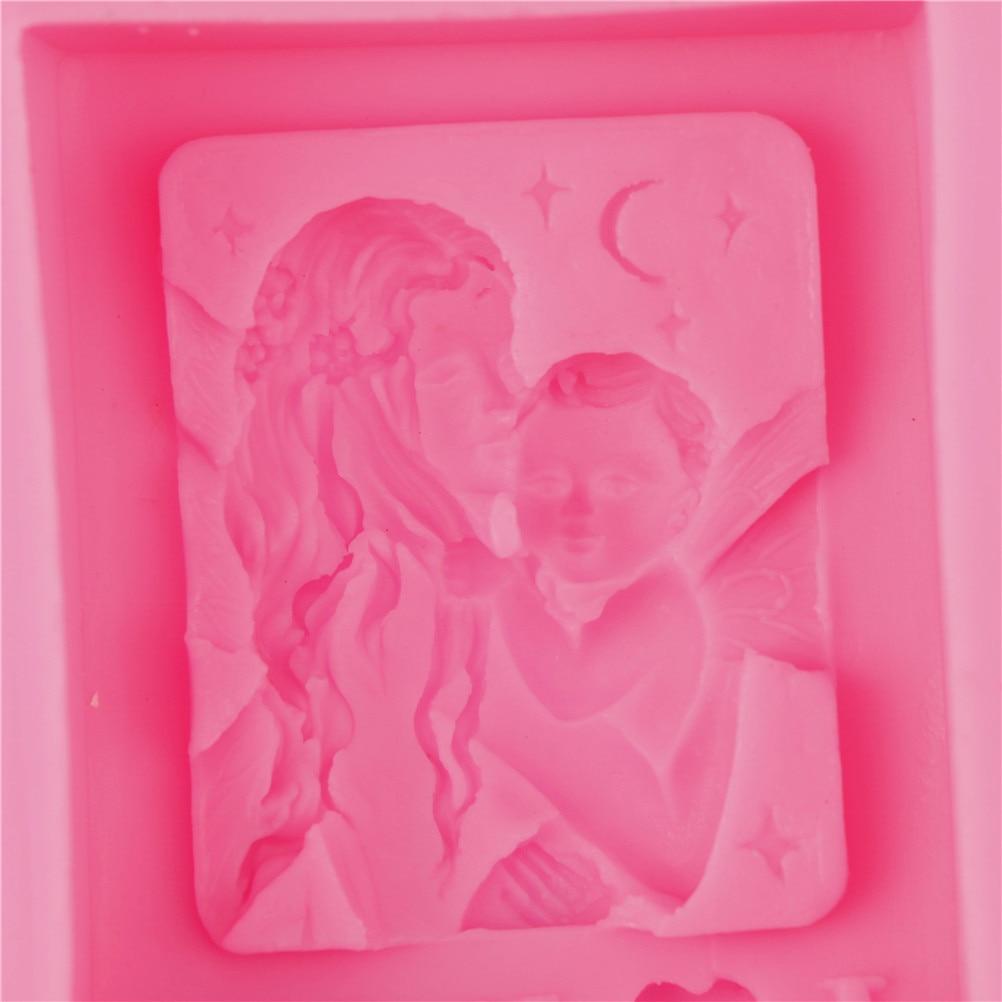 Торт выпечка форма мама день подарок силикон ангел мама держание ребенок любовь мама мыло форма поделки формы