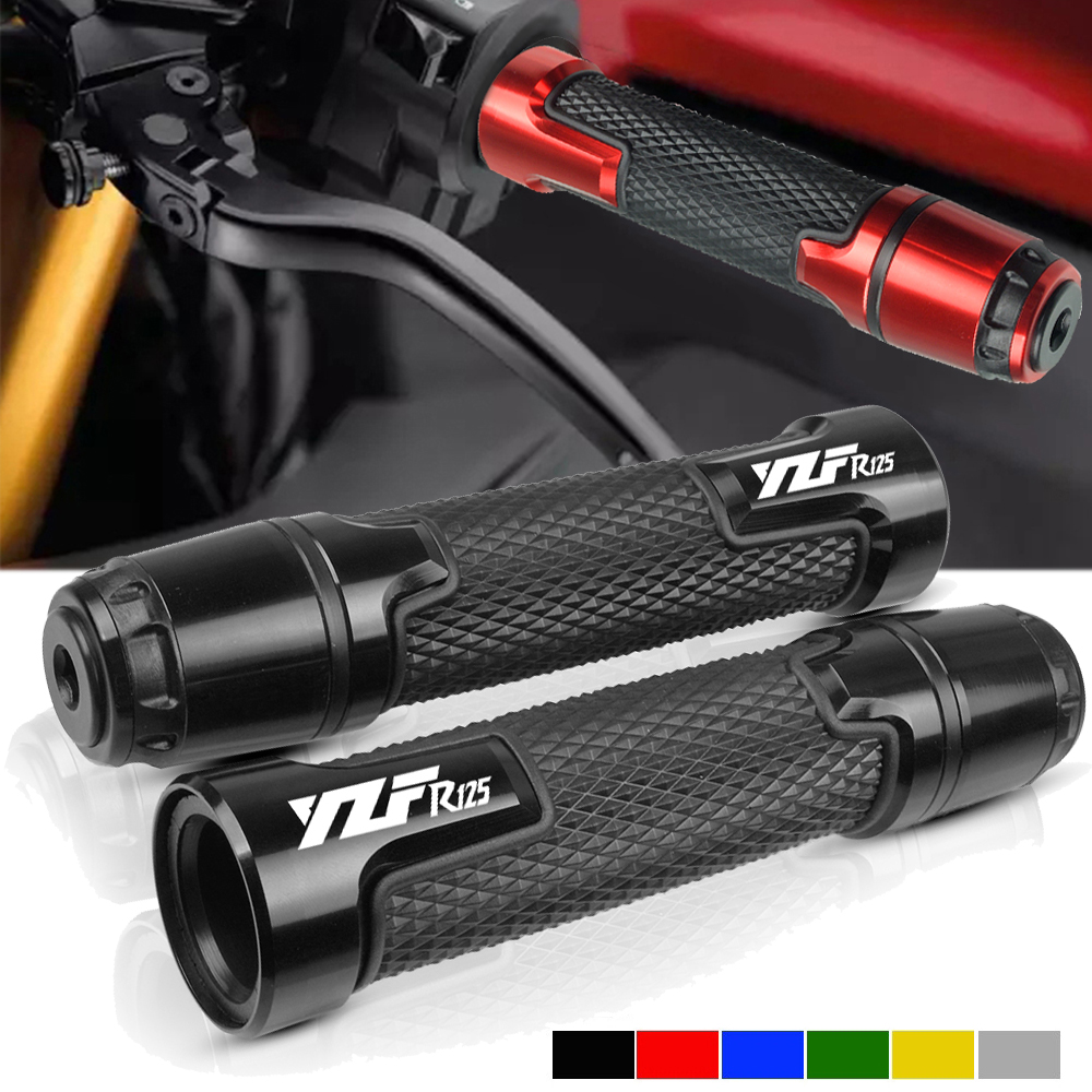 For YAMAHA YZFR125 YZF R125 2014 2015 2016 17 7/8'' 22mm Motorcycle Knobs Anti-Skid Scooter Handle Ends Grips Bar Hand Handlebar
