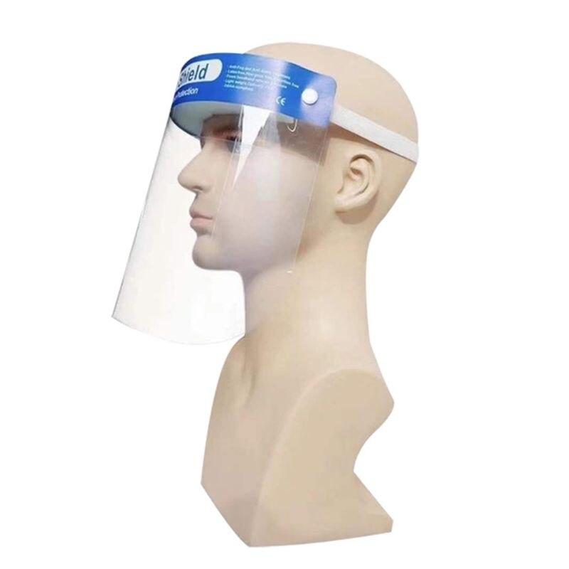 High Quality New Anti-Saliva Splash Anti-Spitting Anti-Fog Anti-Oil Protective Face Shields Mask With Elastic Band