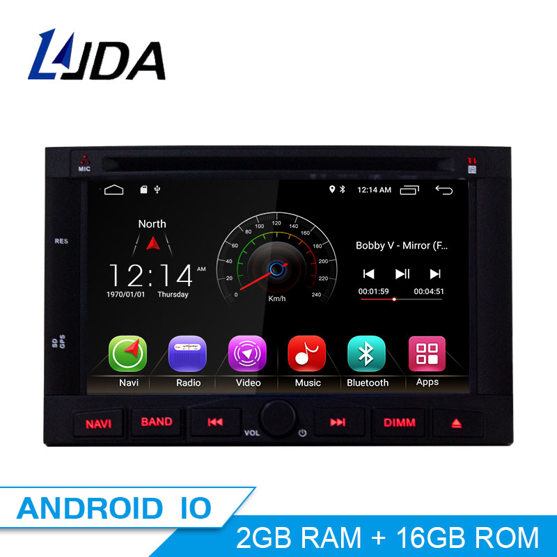 LJDA Android 10 Car Multimedia Player <font><b>For</b></font> <font><b>Peugeot</b></font> 3005 <font><b>3008</b></font> 5008 Partner Berlingo Stereo <font><b>GPS</b></font> Navigation DVD IPS 2 Din Car Radio image