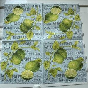 Image 5 - Guardanapos de papel decoupag festa de aniversário do casamento natal tecido vintage flor limão listrado beautifly serviletas decoração da mesa