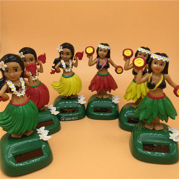 Solar Toy Solar Powered Dancing Hula Girl Swinging Bobble Toy Gift For Car Decoration Novelty Solar Dancing Toys For Children 1