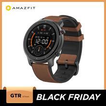Küresel sürüm Amazfit GTR 47mm akıllı saat 5ATM su geçirmez Smartwatch 24 gün pil müzik kontrol cihazı deri silikon kayış