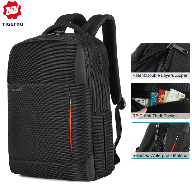 Tigernu New Multifunction Men Bag USB Charging Travel Backpack Male Laptop Backpack Bag  For Teenager Rucksack