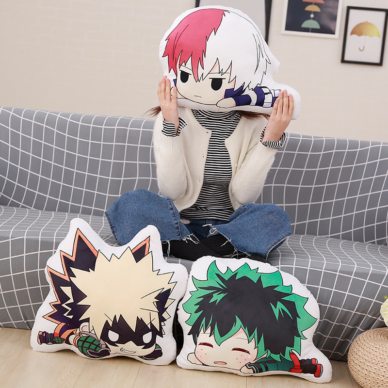 1pc Kawaii Anime Bakugou Katsuki Todoroki Shoto Midoriya Izuku Bolster Plush Boku No Hero Academia Pillow 15cm/35cm