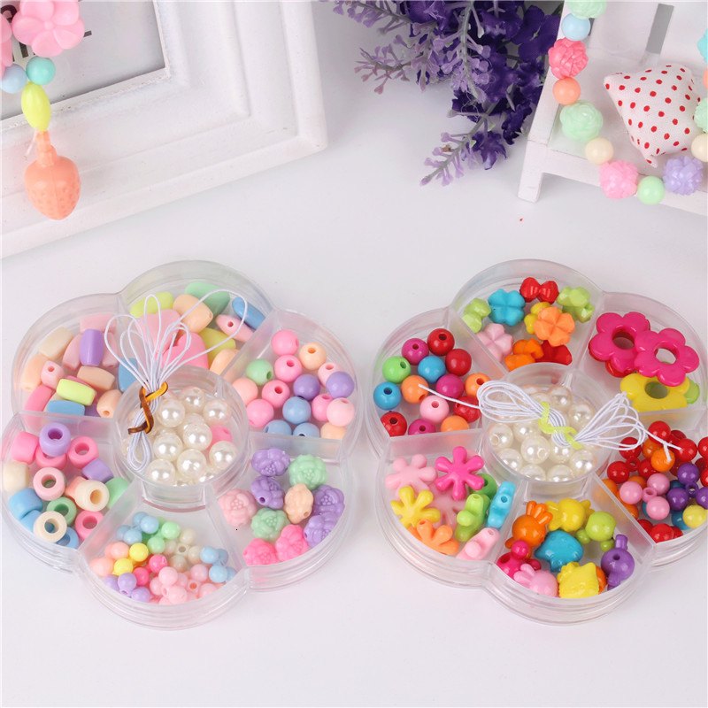 Beads Toys Children Lacing Necklace Bracelet Handmade Princess Girl Gift Kids Jewelry Making Classic Toy Handicrafts Wholesale