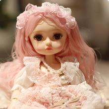 Neue 1/6 Prinzessin Dressup Puppe BJD 26cm Schöne Mädchen Puppe mit Kleid