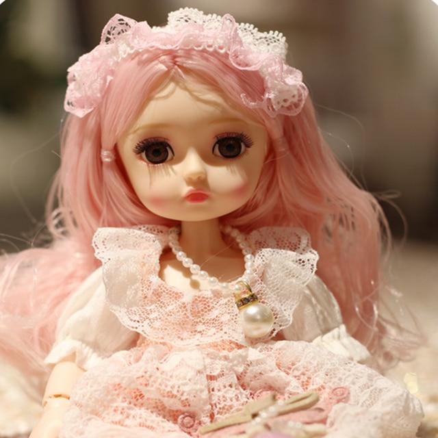 Poupée princesse Dressup avec robe, belle poupée pour filles, 26cm, BJD, nouvelle collection 1/6