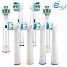 8pcs sensível goma cuidados substituição cabeças escova de dentes para oral b braun cabeça avanço power/pro saúde/triumph/3d excel