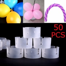30PCS Wedding Balloon Arch Ring Buckle Translucent Balloon Clip Birthday Baby Shower Bachelorette Hen Party Wedding Decoration