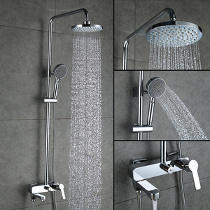 Image 3 - GAPPO Duş Musluk küvet mikser banyo şelale musluk Banyo küvet musluklar duvara monte duş Sistemi