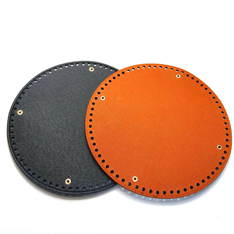 23*23cm Round Bag Bottom With 68 Holes Leather Solid Women Handbag Shoulder Crossbody Handmade DIY Fashion Bag Accessories