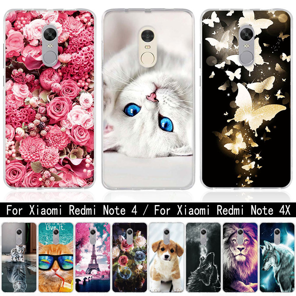 For Coque Xiaomi <font><b>Redmi</b></font> <font><b>4X</b></font> <font><b>Note</b></font> 4 <font><b>4X</b></font> <font><b>Case</b></font> Silicone 3D Soft TPU Cover For <font><b>xiomi</b></font> Xiaomi <font><b>redmi</b></font> <font><b>note</b></font> 4 <font><b>Case</b></font> For <font><b>Redmi</b></font> <font><b>Note</b></font> <font><b>4X</b></font> Bag image