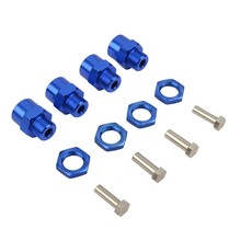 Aluminum Alloy Wheel Hex Hub Adapter 12Mm to 17Mm Conversion Bouncing Parts for 1/10 RC Car(China)