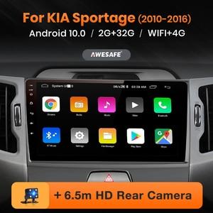 AWESAFE PX9 for KIA Sportage 3 2010 2011 2012 2013 2014 2015 2016 Car Radio DVD GPS navigation No 2 din Android 10.0 2GB+32GB