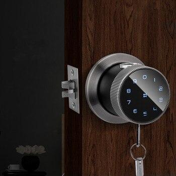 Biometric Fingerprint Lock Security Intelligent Indoor Wooden Door Lock with Password IC Card APP Remote Control Smart Unlock