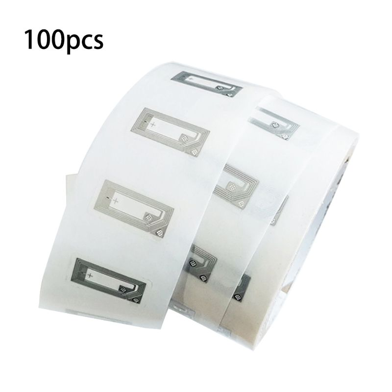 100 шт. NFC чип Ntag213 наклейка влажная инкрустация 2*10 мм 13,56 МГц RFID NTAG 213 ярлык