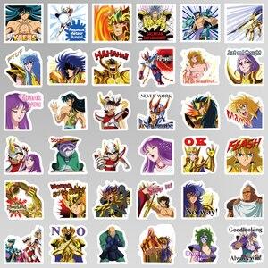 Image 4 - 40 Stks/pak Anime Saint Seiya Stickers Waterdichte Pvc Reizen Skateboard Bagage Koffer Gitaar Scrapbooking Jongen Meisje Kid Sticker