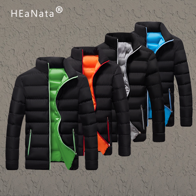 Winter Jacket Men Clothes 2019 Solid Colors Ultra-light Parka Mens Jackets And Coats Stand Collar Bubble Coat Puffer Jackets 5xl