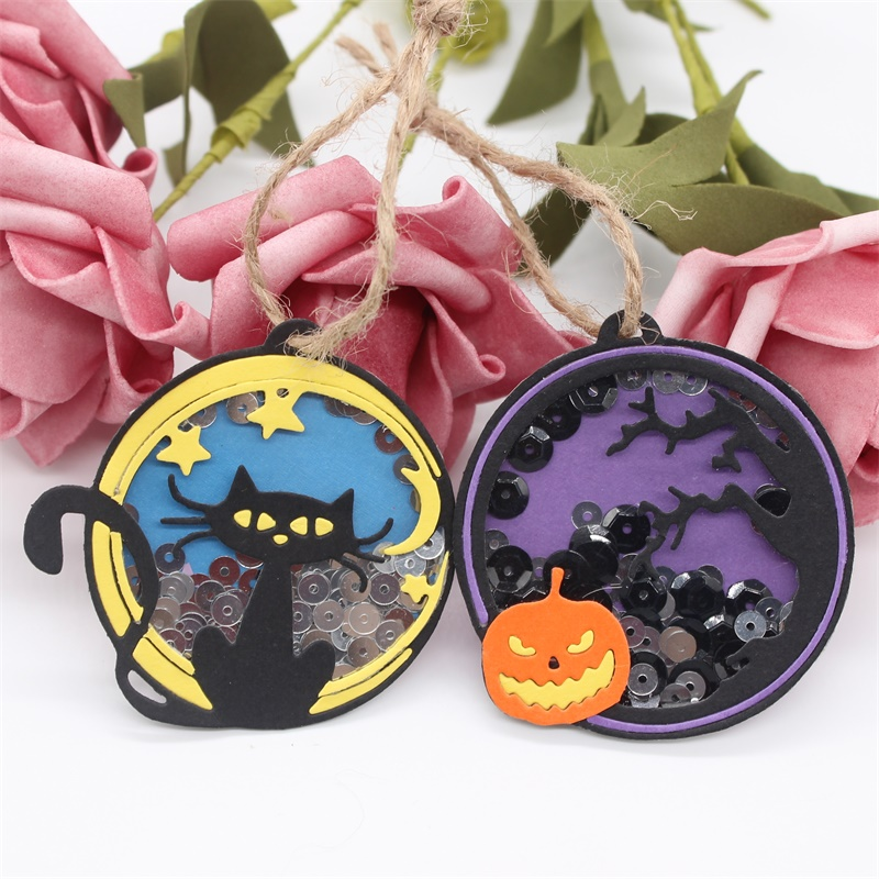 KSCRAFT Halloween Tags Metal Cutting Dies Stencils For DIY Scrapbooking/photo Album Decorative Embossing DIY Paper Cards