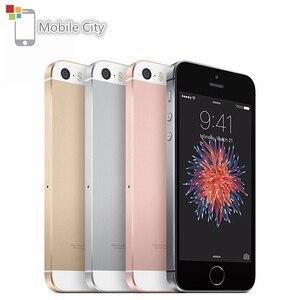 Оригинальный смартфон Apple A9 iPhone SE, двухъядерный процессор, 12 МП, 4 дюйма, IOS, 2 Гб ОЗУ, 16/64 Гб ПЗУ, сканер отпечатка пальца, 4G LTE, разблокированный ...