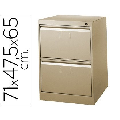 FILE DRAWER SOIL 'S METALLIC 2 'S DRAWER 71CM HIGH, 65CM PROF, 47,5 ANCHOCOLOR BEIGE N34
