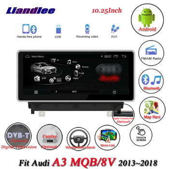 Car Android Multimedia System For Audi A3 8V MBQ 2013-2018 Radio GPS Navigation Player Carplay Androidauto Stereo HD Screen image