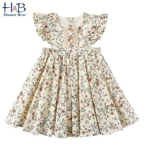 humor urso meninas vestido 2020 novo verao casamento doce princesa festa de aniversario vestido moda