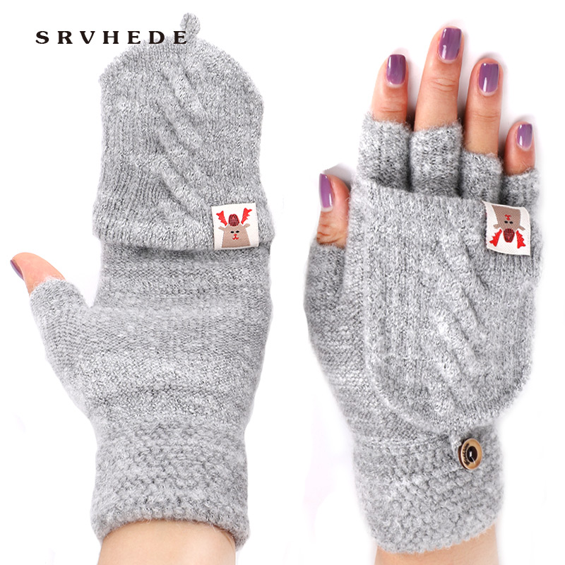 Guantes Winter Gloves Women's Girls Winter Gloves Solid Color Rabbit Hair Gloves Soft Warm Candy Color Double Women's Gloves