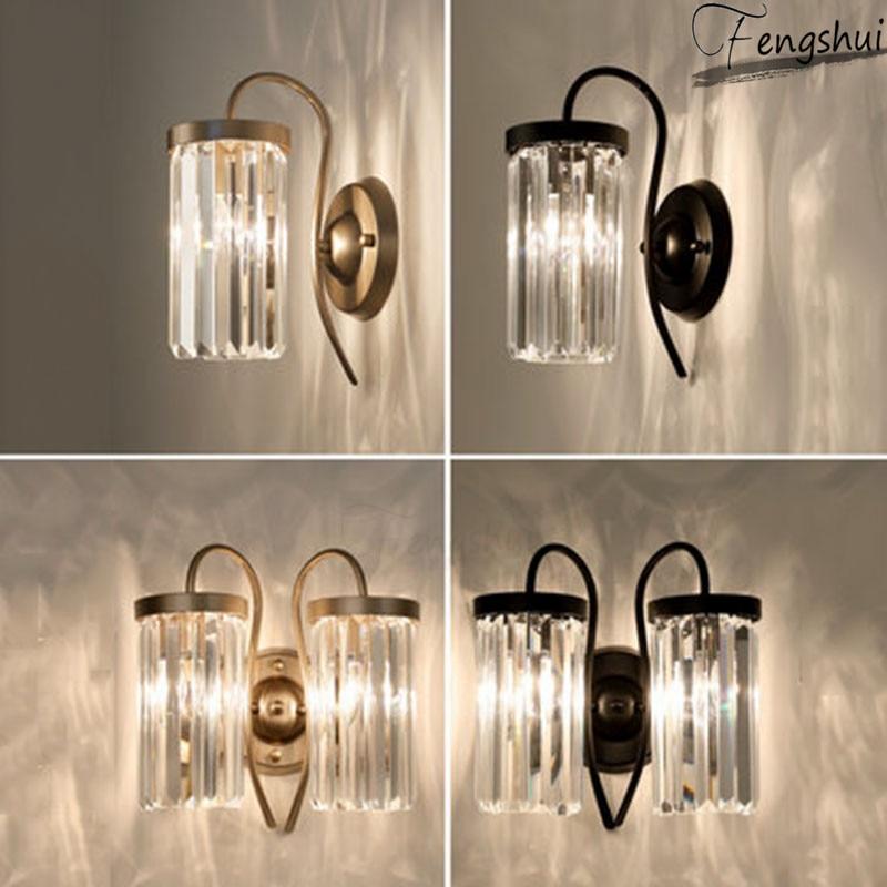 Modern LED Crystal Wall Lamp Lighting Fixtures Nordic Living Dining Room Lights Bedside Sconces Corridor Aisle Luxury Luminaria