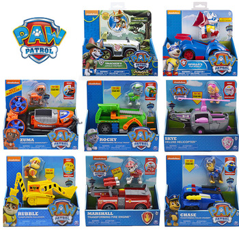 Paw Patrol  Dog Puppy Set Toy Car Patrulla Canina Toys Figure Model Marshall Chase Rubble  Car Canine Patrol Children Gift paw patrol toys set action figure anime figure patrol paw track car toy patrulla canina bus rescue car toy set gift