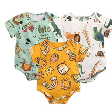 Clothing Bodysuits Lawadka Costume Short-Sleeves Newborn Baby-Boys-Girls Cotton Cartoon