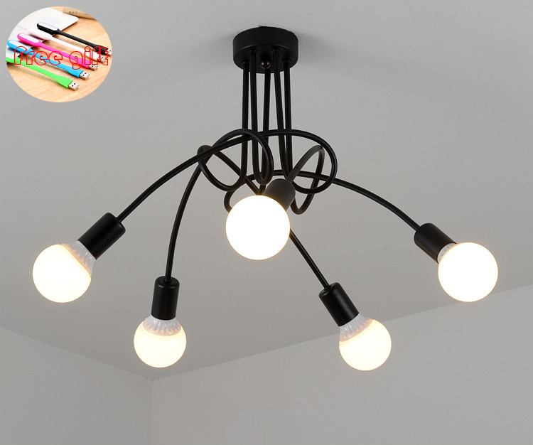 New modern personality creative lamp office chandelier simple lamp Nordic iron lamp room lamp bedroom lamp ceiling lamp