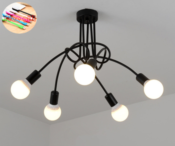 New modern personality creative lamp office chandelier simple lamp Nordic iron lamp room lamp bedroom lamp ceiling lamp creative living room lamp simple modern atmosphere nordic postmodern personality led pendant lamp bedroom lamp home lamp