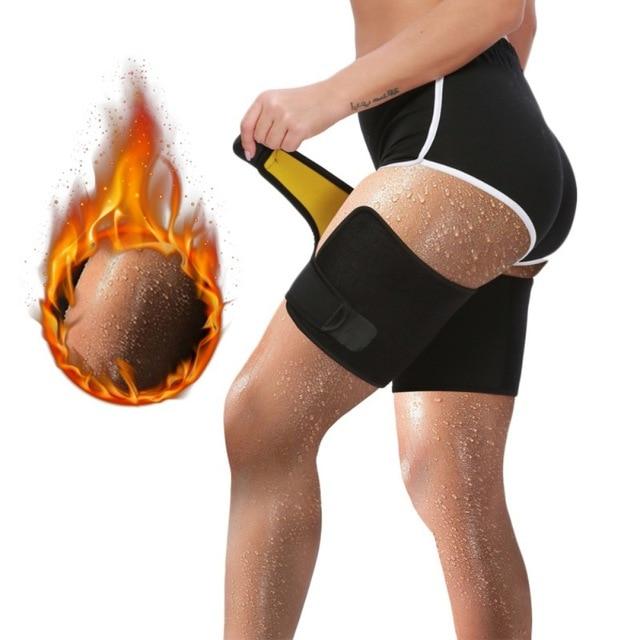 Leg Belt Sweat Thigh Trimmer Sweat Band Leg Slimmer Weight Loss Neoprene Gym Workout Corset Thigh Slimmer Tone Legs Strap Women 1