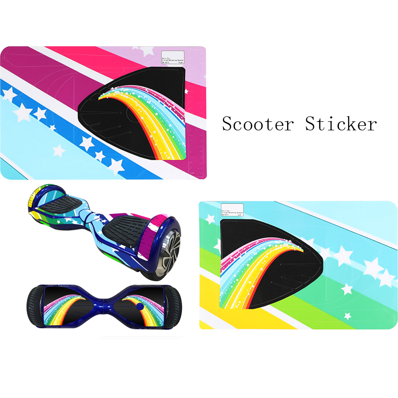1Pcs 6.5 Inch Self-Balancing Scooter Skin Cover Electric Skate Board Sticker Two-Wheel Smart Protective Cover Case Stickers