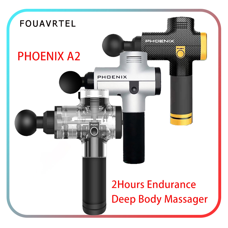 FOUAVRTEL High Vibrating Body Massager Electric Therapy Massage Guns Deep Muscle Relaxation Machine Relaxing Device