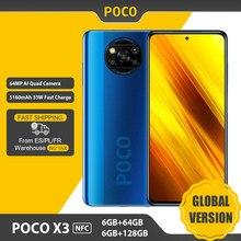 Versión Global POCO X3 Smartphone NFC 6GB 64GB/128GB teléfono Snapdragon 732G 6,67