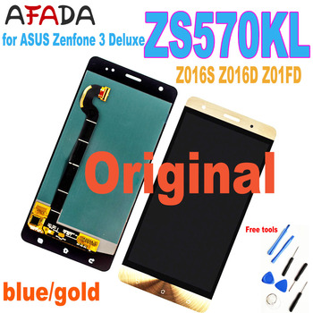 Original LCD for ASUS Zenfone 3 Deluxe Z016S Z016D ZS570KL LCD Display Touch Screen Digitizer Assembly ZS570KL Z01FD Replacement чехол red line london для apple iphone 11 pro orange