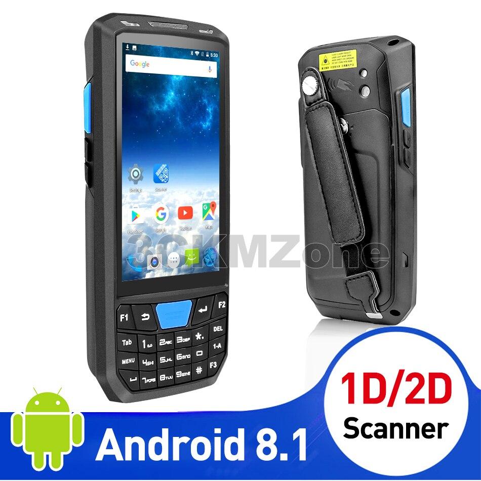 Pda Android Barcode Scanner Wireless mobile phone handheld data terminal wifi barcode reader 1D laser 2D QR scannner Wifi GPAS