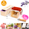 Rectangular Silicone Soap Mold Handmade Soaps Making Tool Set Adjustable Wooden Loaf Cutter Box with 2 Stainless Steel Cutters