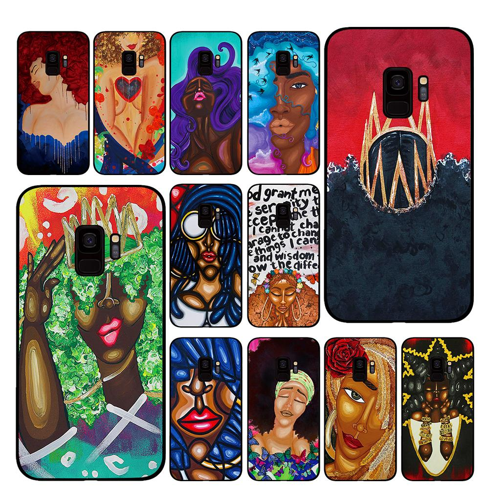 Africa Fashion <font><b>sexy</b></font> <font><b>girls</b></font> Phone Case for Samsung Galaxy A6 A8 Plus A7 A9 2018 A5 2017 <font><b>18</b></font> J530 J7 J8 image