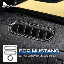 AIRSPEEDสำหรับFord Mustang 2009 2010 2011 2012 2013 อุปกรณ์เสริมคาร์บอนไฟเบอร์ภายในรถยนต์Air Outlet Vent Trimสติกเกอร์