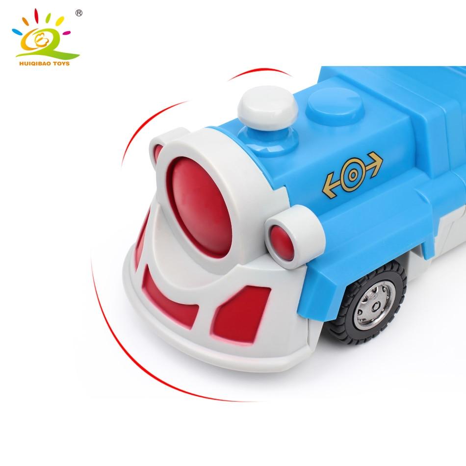 10PCS Construction Engineering Excavator Magnetic Building Blocks DIY Magic Train Truck Vehicle educational Toys For Children 5
