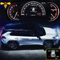 Smart Car TPMS Sistema de control de presión de neumáticos pantalla Digital LCD tablero alarma de seguridad para coche para Toyota Rav4 2019 2020 Xa50