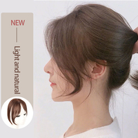 MUMUPI Long Clip In Front Hair Bang Side Fringe Hair Extension Real Synthetic hair 3D Middle Part Bangs Hair Piece