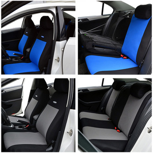 Image 2 - High Quality Car Seat Covers Polyester 3MM Composite Sponge Universal Fit Car Styling for lada Toyota seat cover car accessories