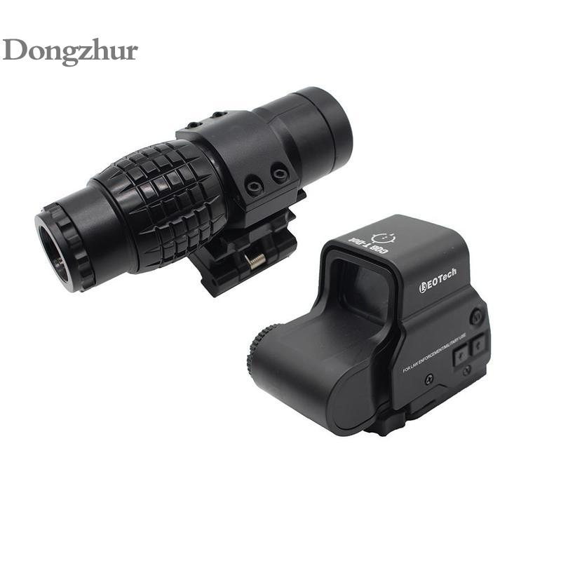 3xMagnifier Riflescope Tactical Magnifying Hunting Scope For Riflescopes Plastic Toy Mount Fits Holographic Reflex Sight
