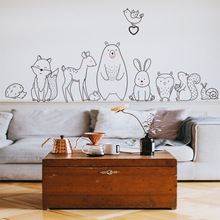 New Cute Animal Wall Sticker Home Decor Living Room Bedroom Wall Stickers For Kids Rooms Porch Wall Decorative Stickers bedroom wall decor deer wall stickers for kids rooms door stickers muraux home living room house decoration accessories